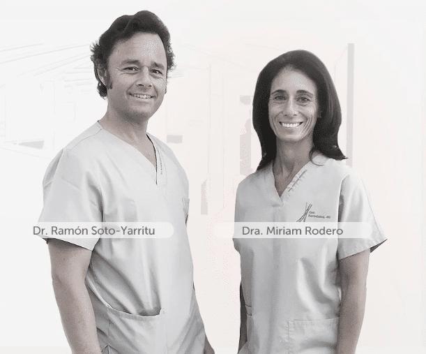 Imagem dos médicos Ramón Soto-Yarritu e Miriam Rodero